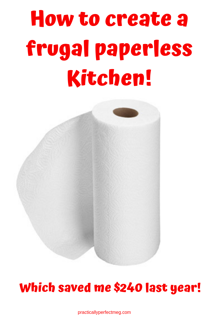 How to create a frugal Paperless kitchen. #cleaning #frugal #goinggreen