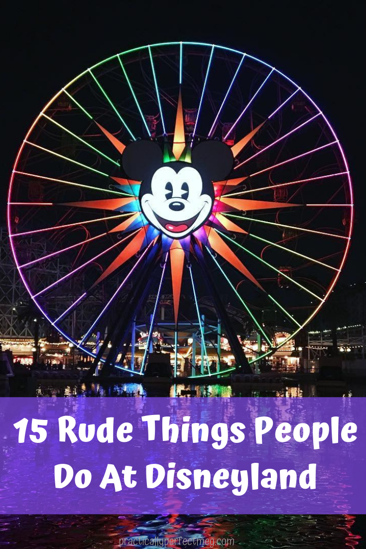 15 Rude Things That People Do At Disneyland. #Disneyland Etiquette. #Disneyland #DisneyCaliforniaAdventure #Disney #Travel