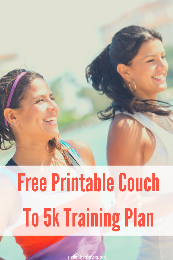 28 Day Couch to 5k free printable training plan. #running #Couch25k #5ktrainingplan #5k