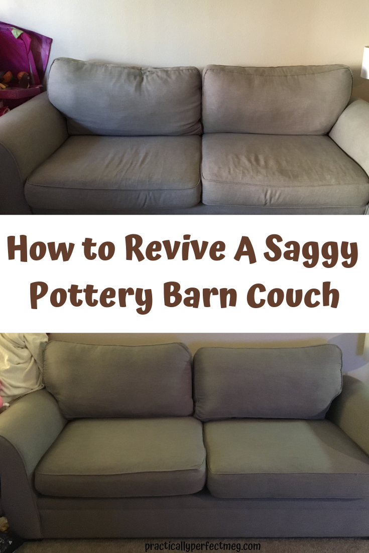 How to revive your old Pottery Barn sofa. #PotteryBarn #PotteryBarnSofa #PotteryBarnCouch #PotteryBarnCouchRefresh