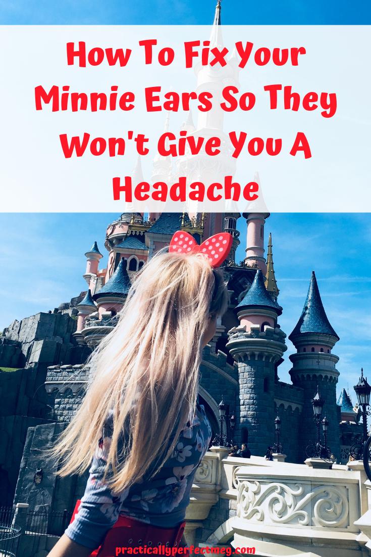 How to Prevent Minnie Mouse Ear Headaches. #Disneyland #MinnieMouseEars #WaltDisneyWorld #Disney #WDW #DisneyCaliforniaAdventure #MinnieMouse