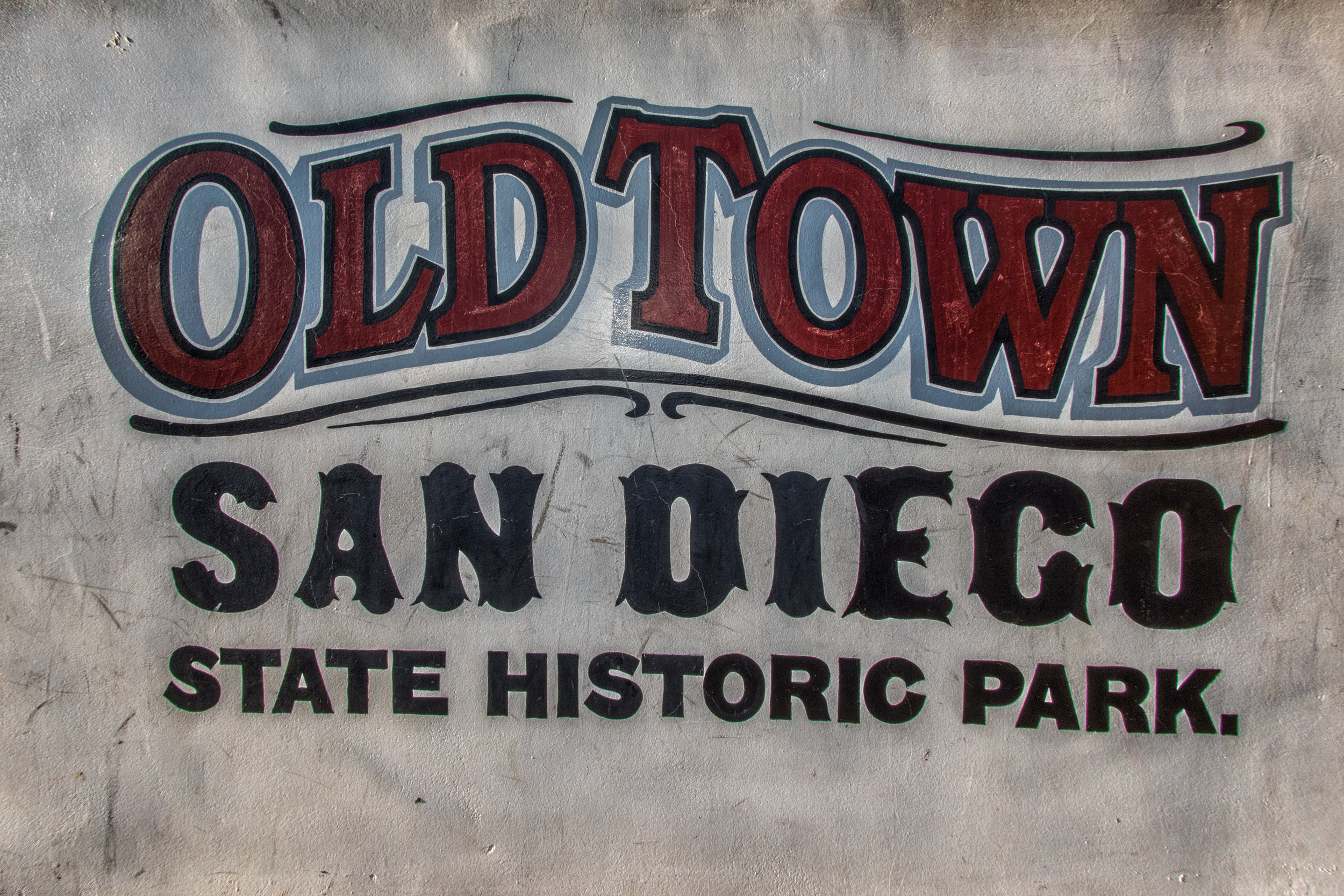 old town san diego sign
