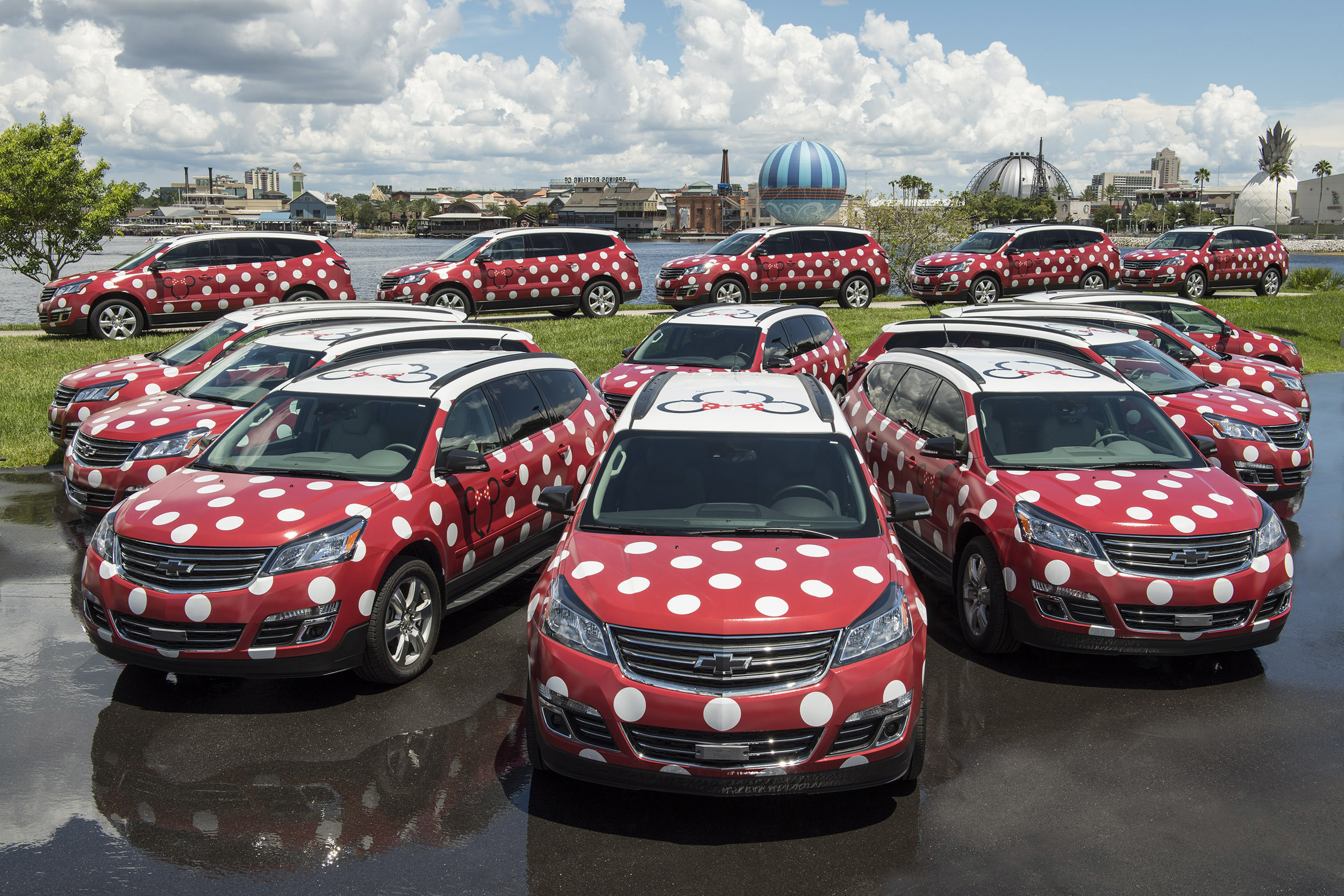 Starting later this month at Disney�s Boardwalk Resort and Disney�s Yacht & Beach Club Resorts, the Minnie Van service is a whimsical, point-to-point transportation service that will help Guests get around Walt Disney World Resort in a jiffy. Guests can order their own private Disney vehicle right from their smartphone and a Disney Cast Member will drive them wherever they want to go around Walt Disney World. (David Roark, photographer)