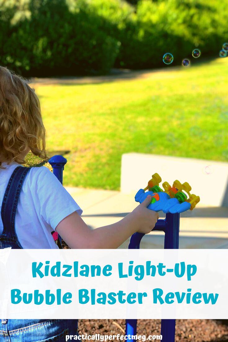Kidzlane Light-Up Bubble Blaster Review. #Kidzlane #toys #toyreview #ad