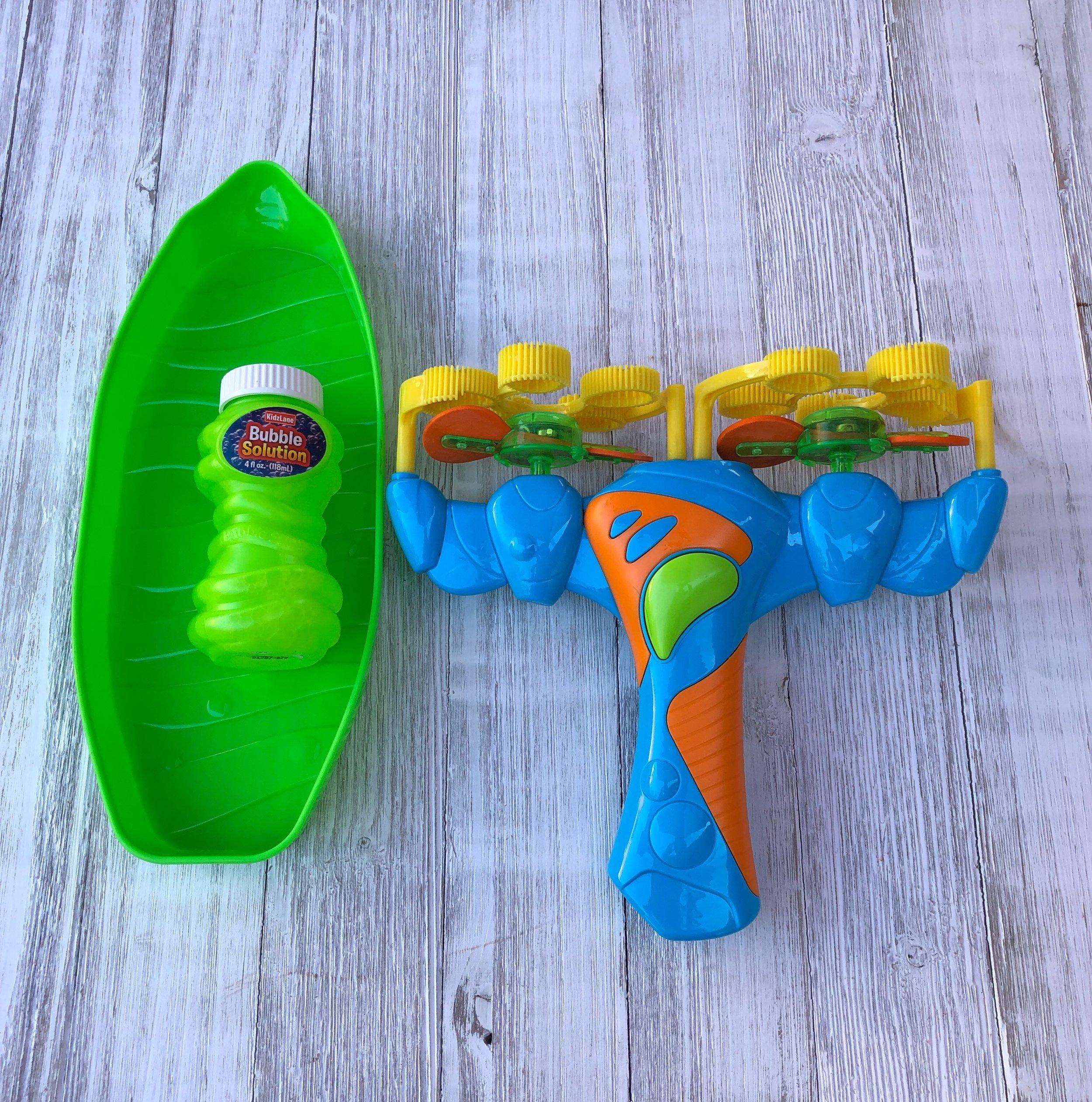 Kidzlane Light-Up Bubble Blaster Review. #Kidzlane #toys #toyreview