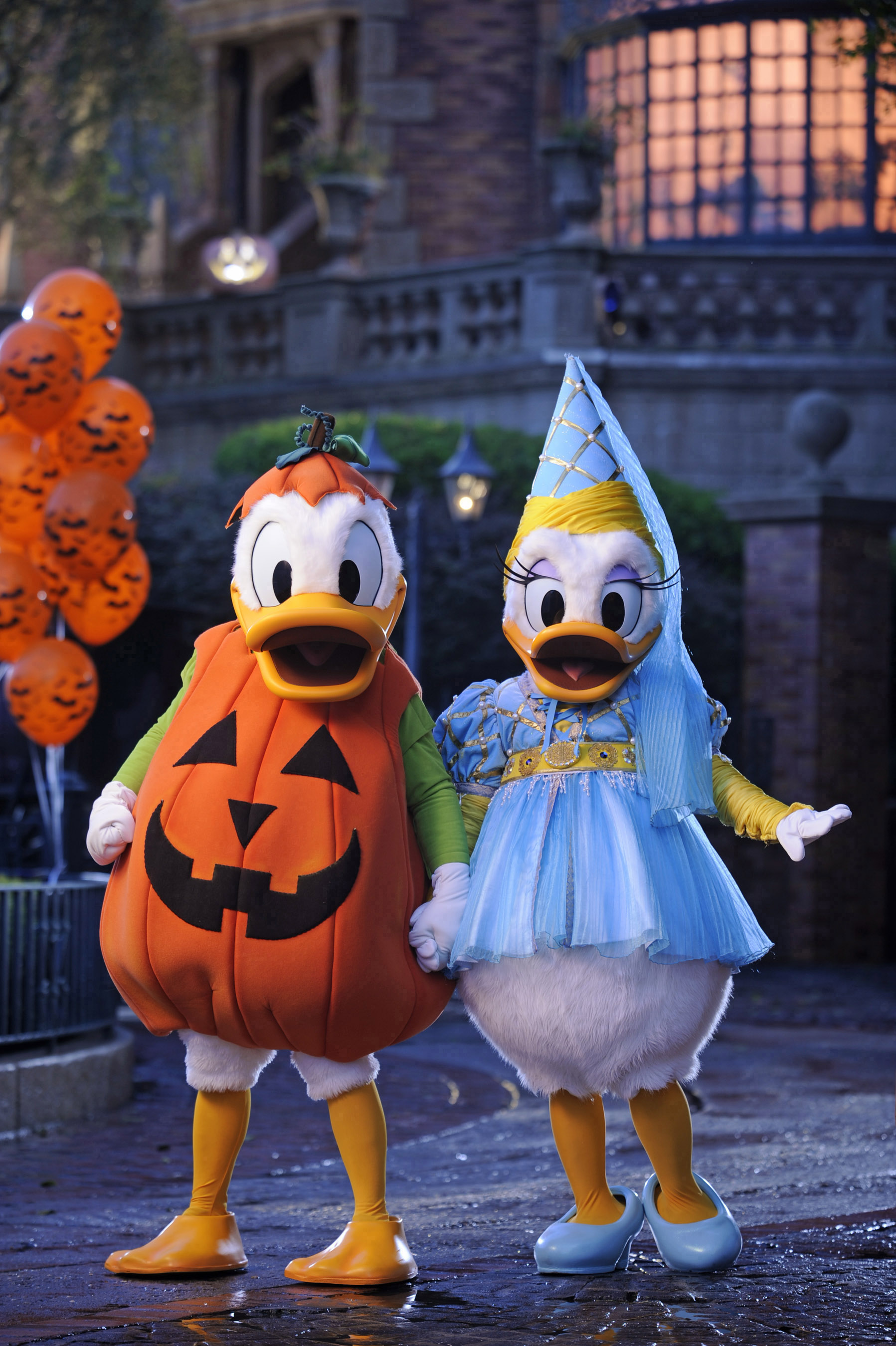 """Donald and Daisy decked out for """"Mickey's Not-So-Scary Halloween"""