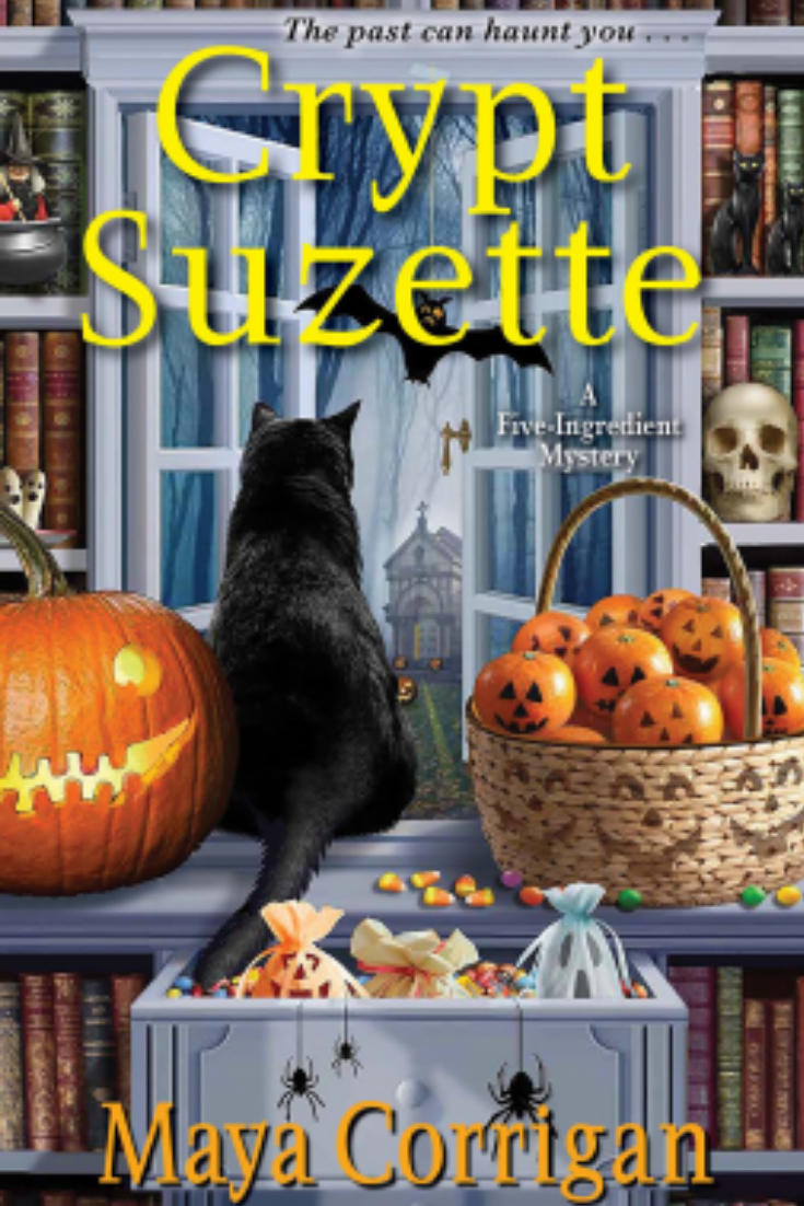 Crypt Suzette  A Five-Ingredient Mystery by Maya Corrigan Review. #cozy #mystery #bookreview #bookstoread  #booklovers #reading #books