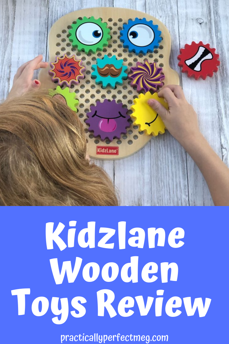 A review of Kidzlane Gear Head Wooden Building toys and Kidzlane magnetic fishing game. #kidzlane #stem #toyreview #woodtoys #homeschooling #motherhoodblog