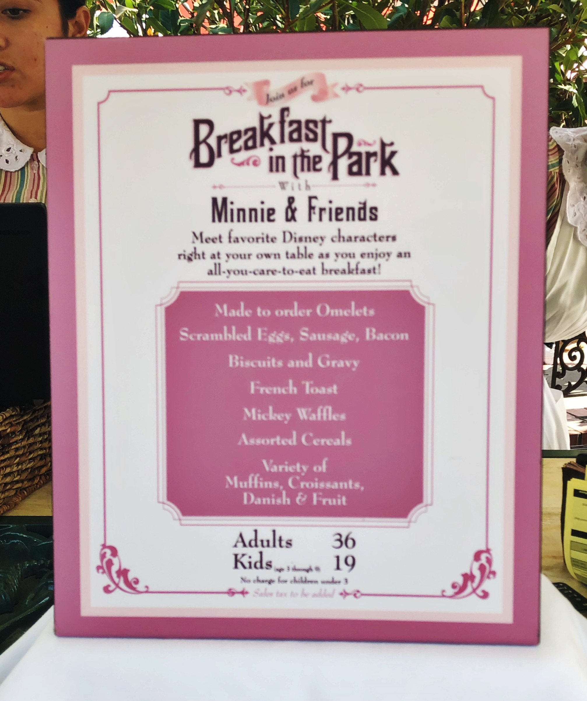 Plaza Inn  Breakfast In the Park with Minnie and Friends Character Dining Review by Practically Perfect Meg. #Disney #Disneywithkids #familytravel #Disneyland #CharacterDining #DisneyFood #DisneylandResort
