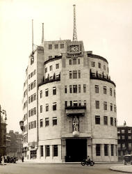 BBC Broadcasting House, 1940. - Reproduced by permission of Mary Evans Picture Library (Copyright).