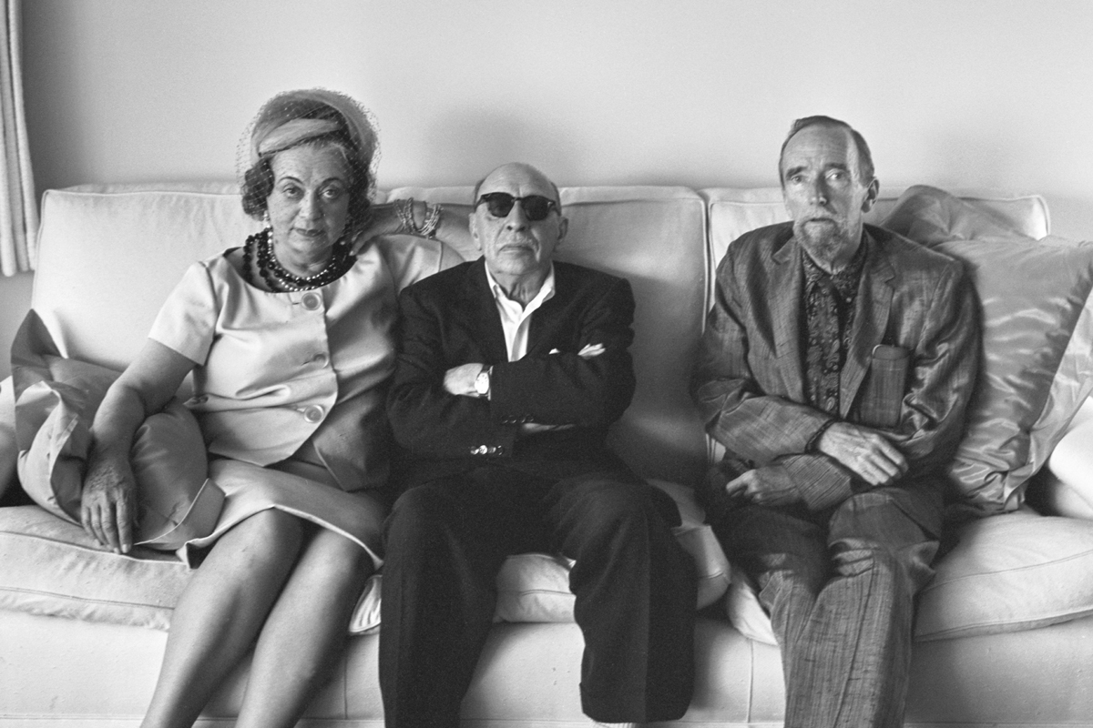 With Vera and Igor Stravinsky, Hollywood, 1961. -