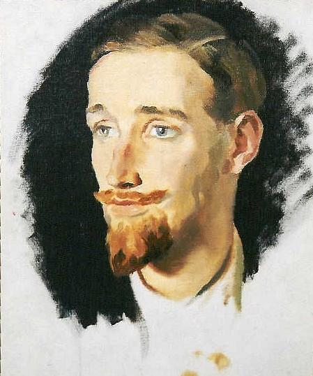Gerald Heard IIby Glyn Philpot. - Oil on canvas, c. 1915.