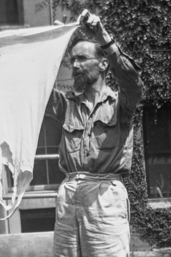 Heard Hanging Laundry at the La Verne Conference on Spiritual Life, 1941 - Courtesy Ettalie Wallace.