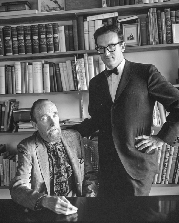 With conductor Robert Craft, 1961. -