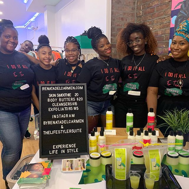 So grateful that these ladies stood with me yesterday. Thank you ladies! @royally_bree @shawaynanicole @mz_sosweet @younglifestyler @brandingblane  And Stacy who is taking the photo. . . . . . .  #SkinCare #Beauty #Beautiful #Moisturize #Exfoliate #Smooth #Glow #BodyButter #BodyCleanser #GlowUp #Heal #Love #Natural #Organic #MangoButter #CoconutOil #SheaButter #AloeButter #SkinRegimen #SkinHealth #Wellness #SelfCare #Selfhelp #MentalHealth #Meditation