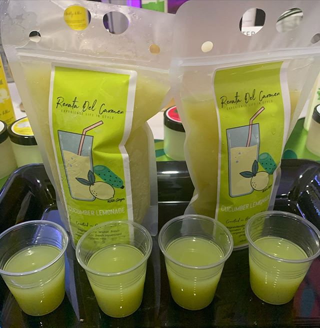 The people went crazy for this yesterday. @moderndivineretro your refreshing mocktail will be available everywhere soon. #ExperienceLifeInStyle #CucumberLemonade