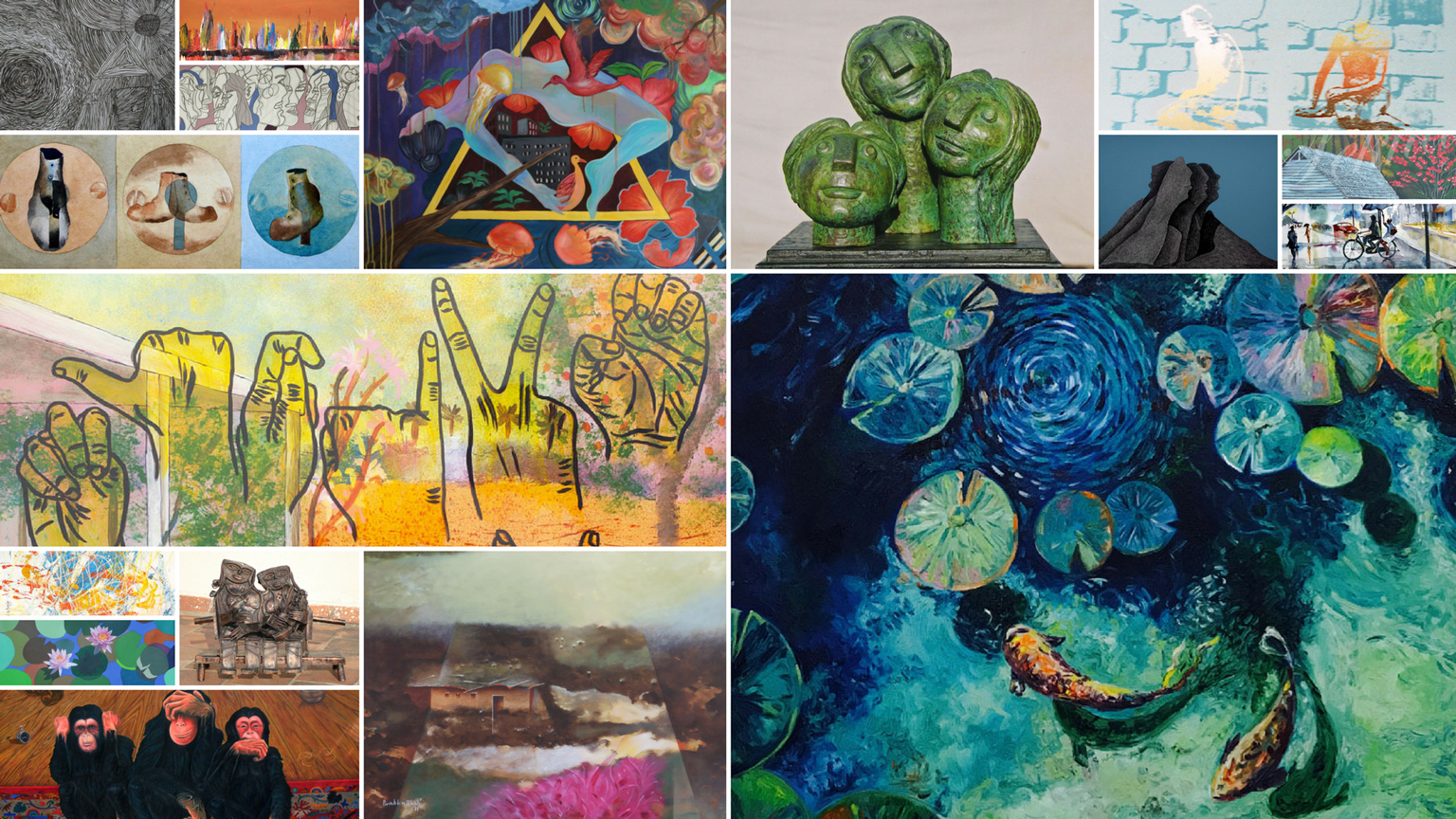 Collage of NJA artworks