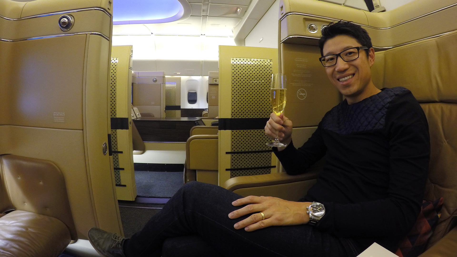 Using points to fly Business Or First Class is the smart way to fly  - Steve Hui
