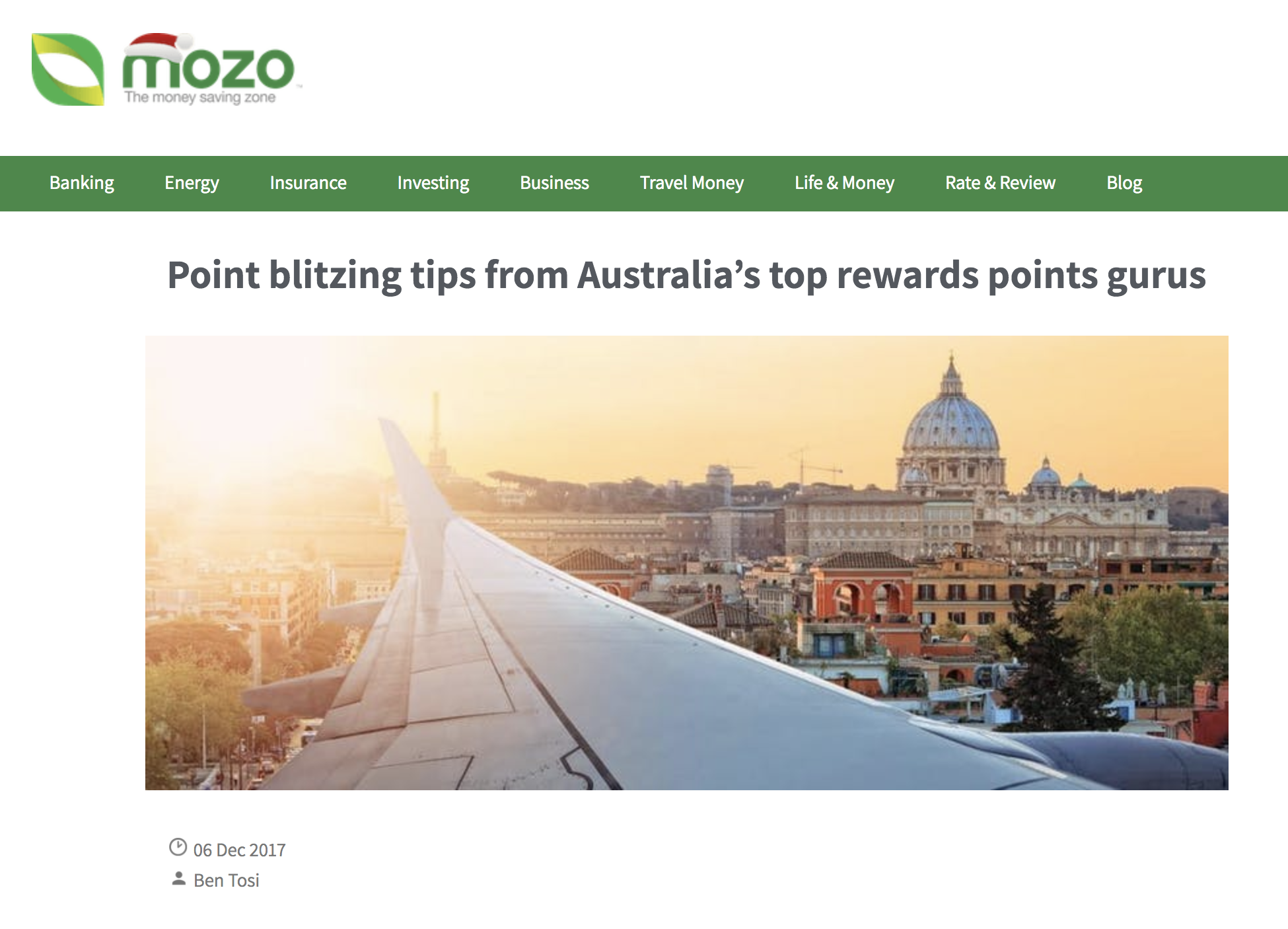 Mozo - Points Tips From Australia's Rewards Points Experts