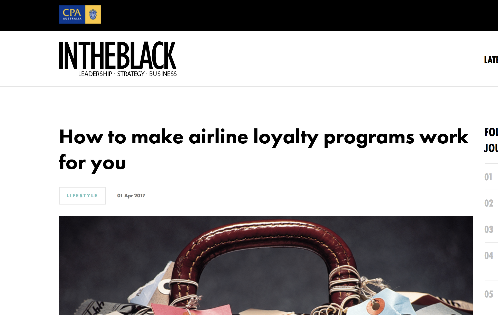 INTHEBLACK - How to make loyalty programs work for you