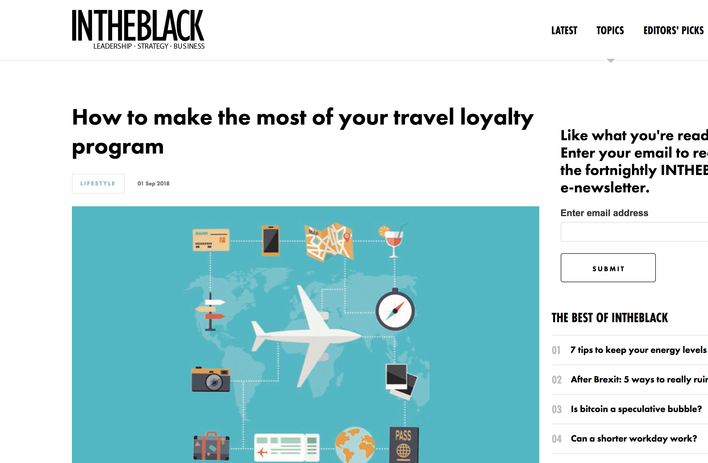 INTHEBLACK - Make the most of your travel loyalty program