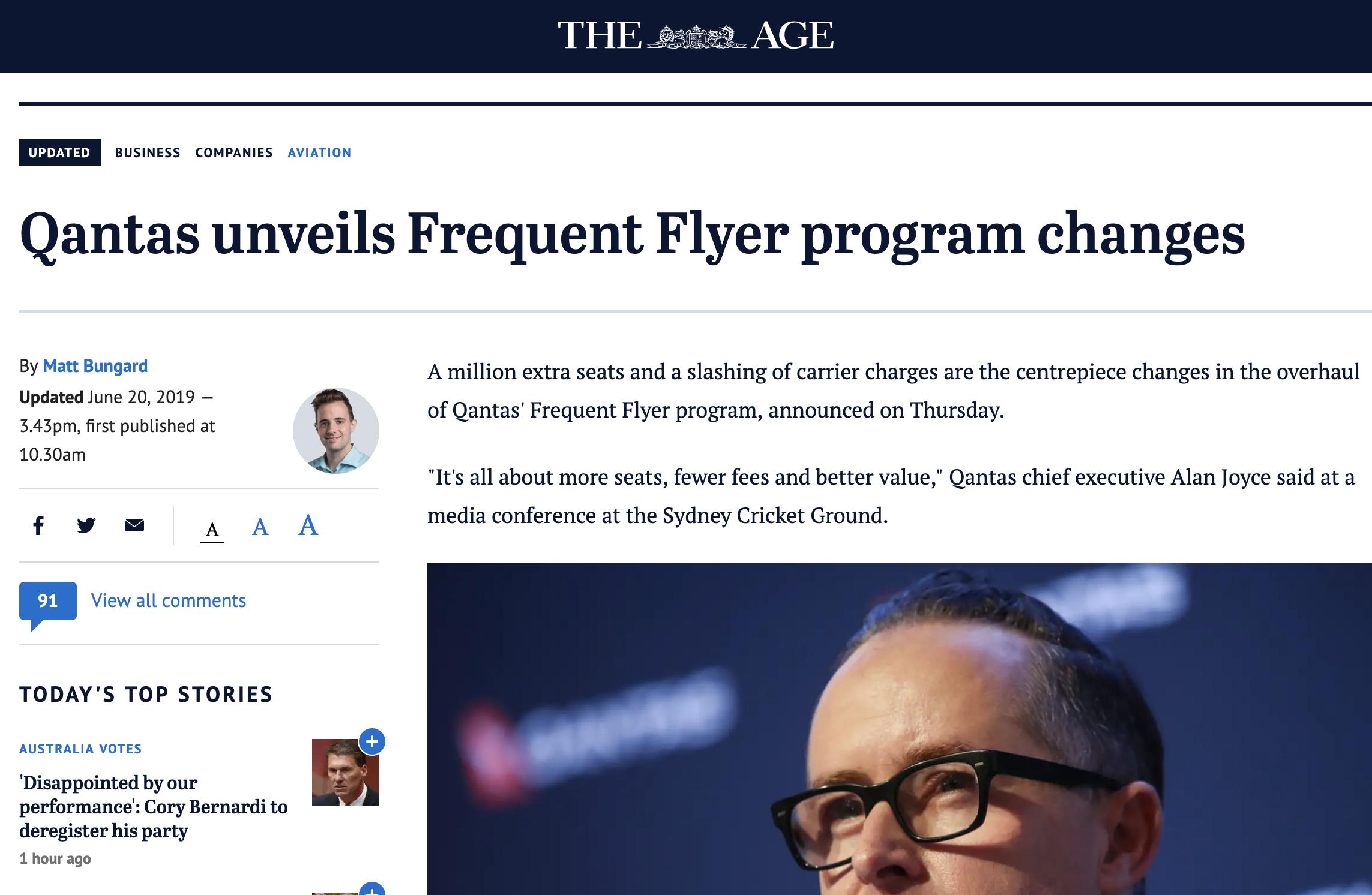 The Age - Qantas Opinion