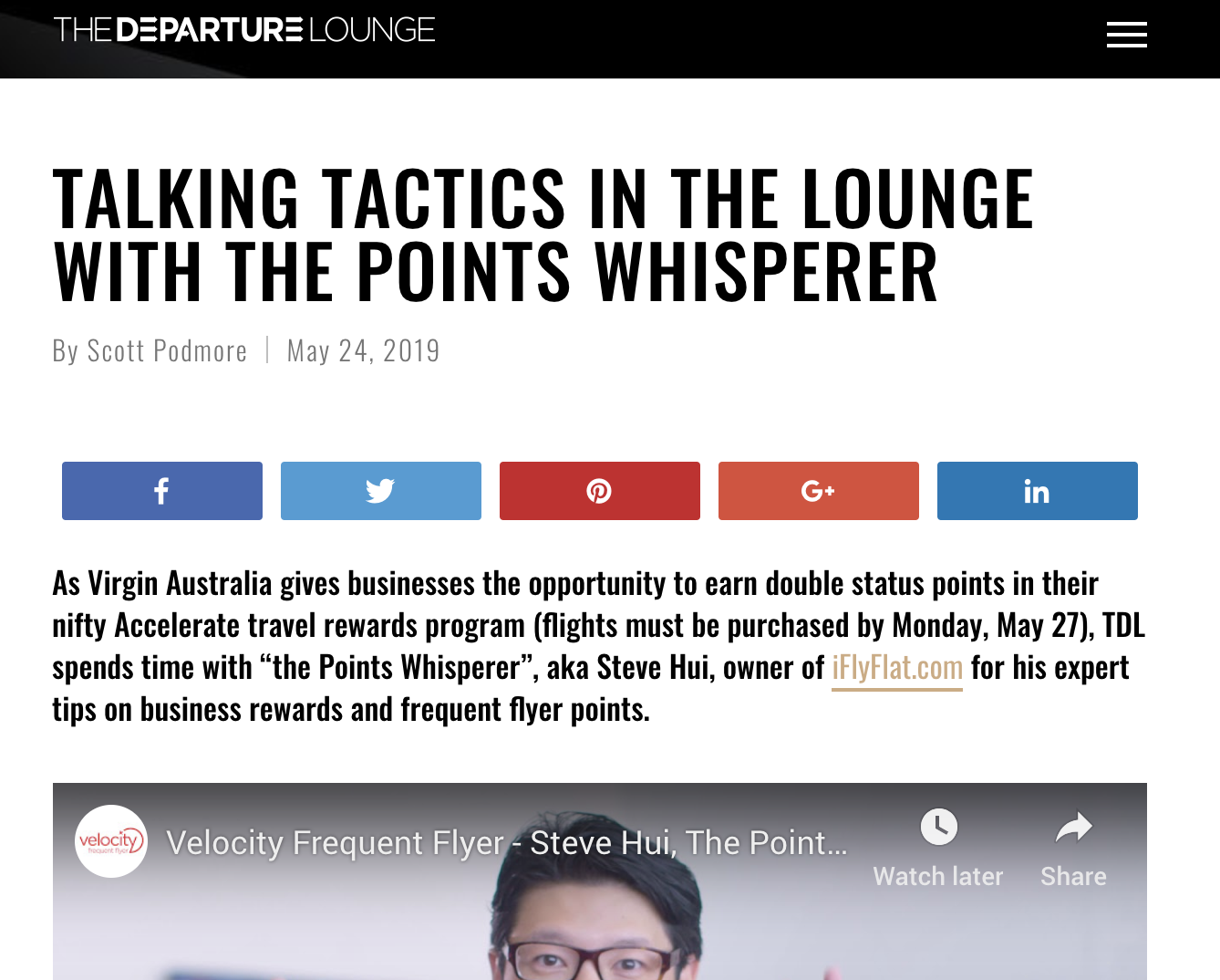 The Departure Lounge Interview