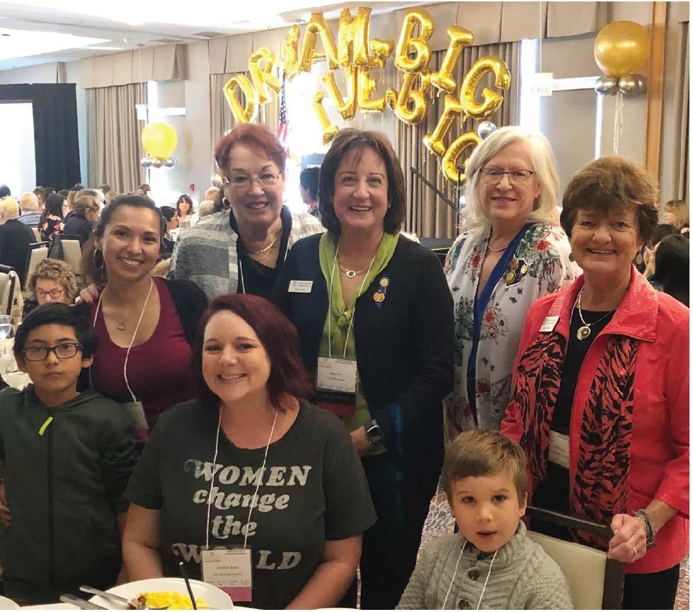 Two of our Live Your Dream Award winners attended the Sunday brunch, and we were congratulated for giving awards to five women, one of a handful of clubs giving that many.