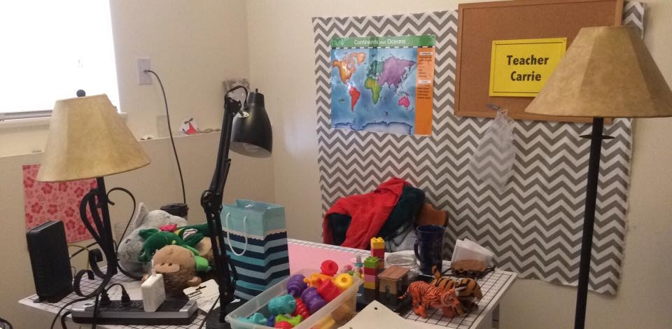 Classroom Setup - Note all the lights