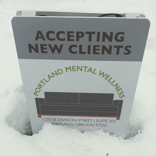 The snow is finally beginning to melt. We're here when you're ready. #portland #pdx #portlandoregon #mentalhealth #portlandmentawellness #therapy #counseling #psychology #wellness #sedivision