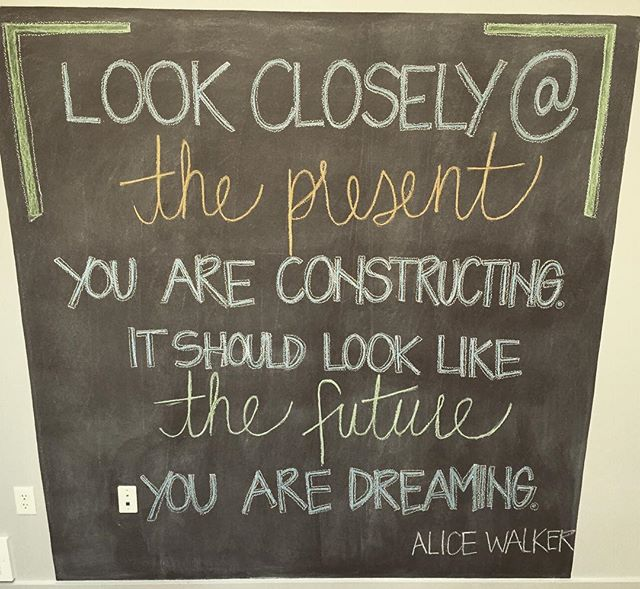 """""""look closely at the present you are constructing. it should look like the future you are dreaming."""" #portland #pdx #portlandoregon #mentalhealth #portlandmentawellness #therapy #counseling #psychology #wellness #divisionstreet"""