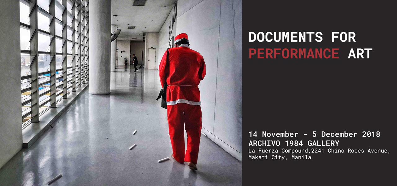 Documents for Performance Art  Larry Manda Ben Razon MM Yu November 14 - December 5 2018