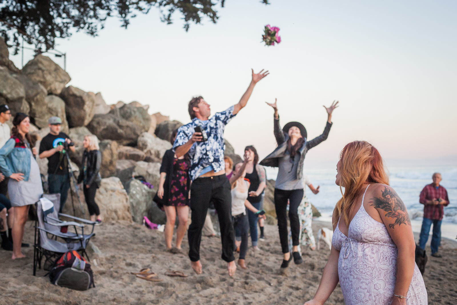 santa cruz wedding photography beach small wedding