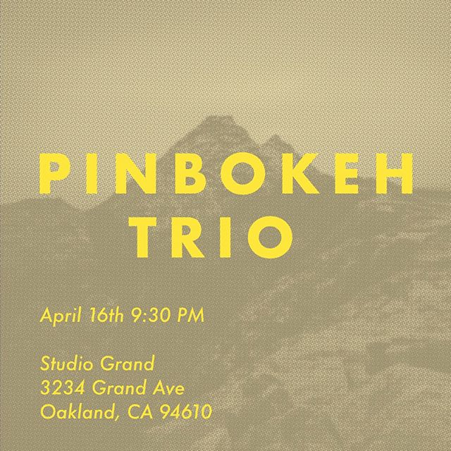 I got two shows this week on both sides of the bay! Come to show your support! 1. TONIGHT! My free jazz trio, @pinbokeh are playing at one of our favorite spots, Studio Grand. We had a great show a couple of weeks ago, so we have some good momentum now that you don't wanna miss! 2. With Saint Solitude @saintdupitude at the Neck of the Woods in SF on Wednesday night! We will be playing as a part of the Reimagine series, a week long event that is about creating a safe space around grief. Our rehearsal was last night and it was GREAT.  Plz don't miss out on these awesome shows! Invite your friends! Invite your enemies!