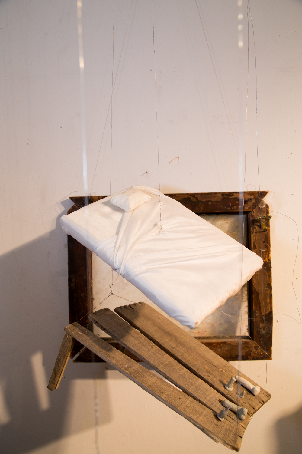 A man's Bed (Part of Sleep Installation)