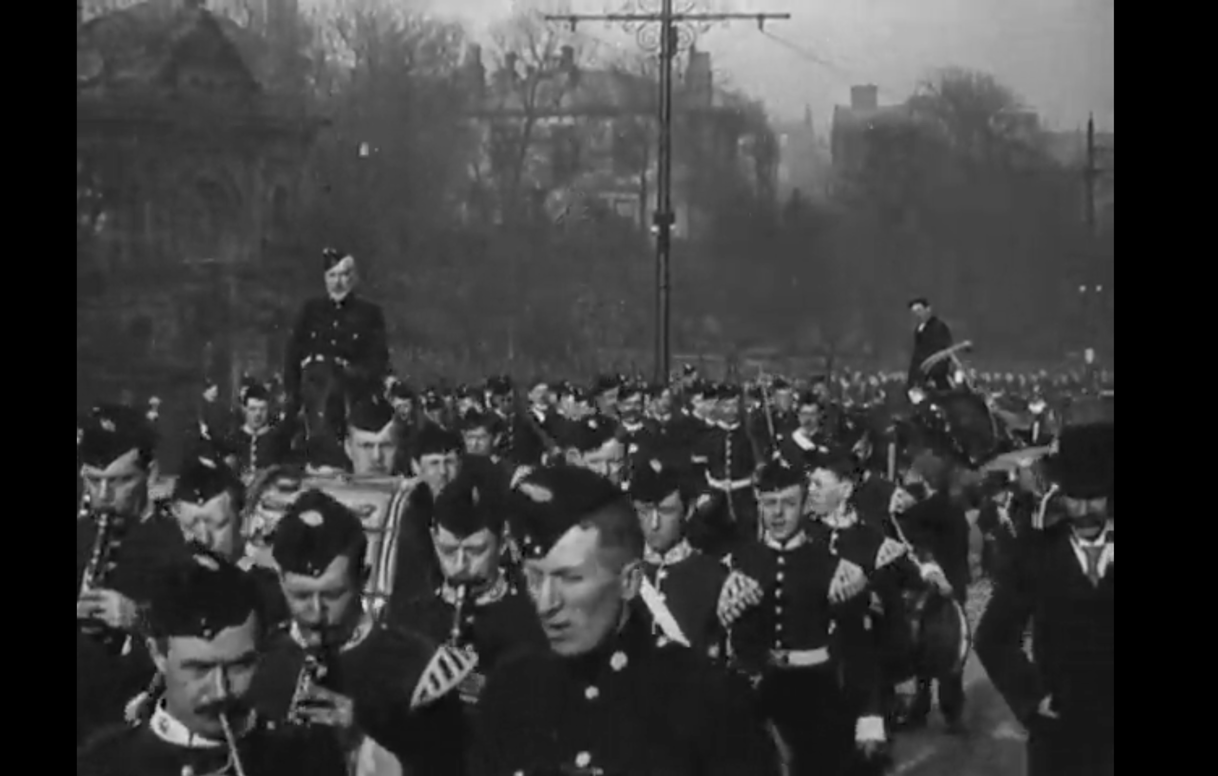 The British Film Institute have footage of the 1st Battalion (Blackburn Volunteers) shot in 1900. (CLICK THE IMAGE TO VIEW)