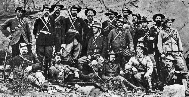 A typical group of Boer fighters; skilled in guerrilla tactics on the land they knew so well