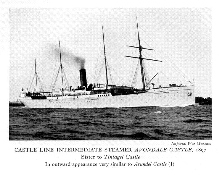 The Avondale Castle, the ship that transported Fred back to Britain