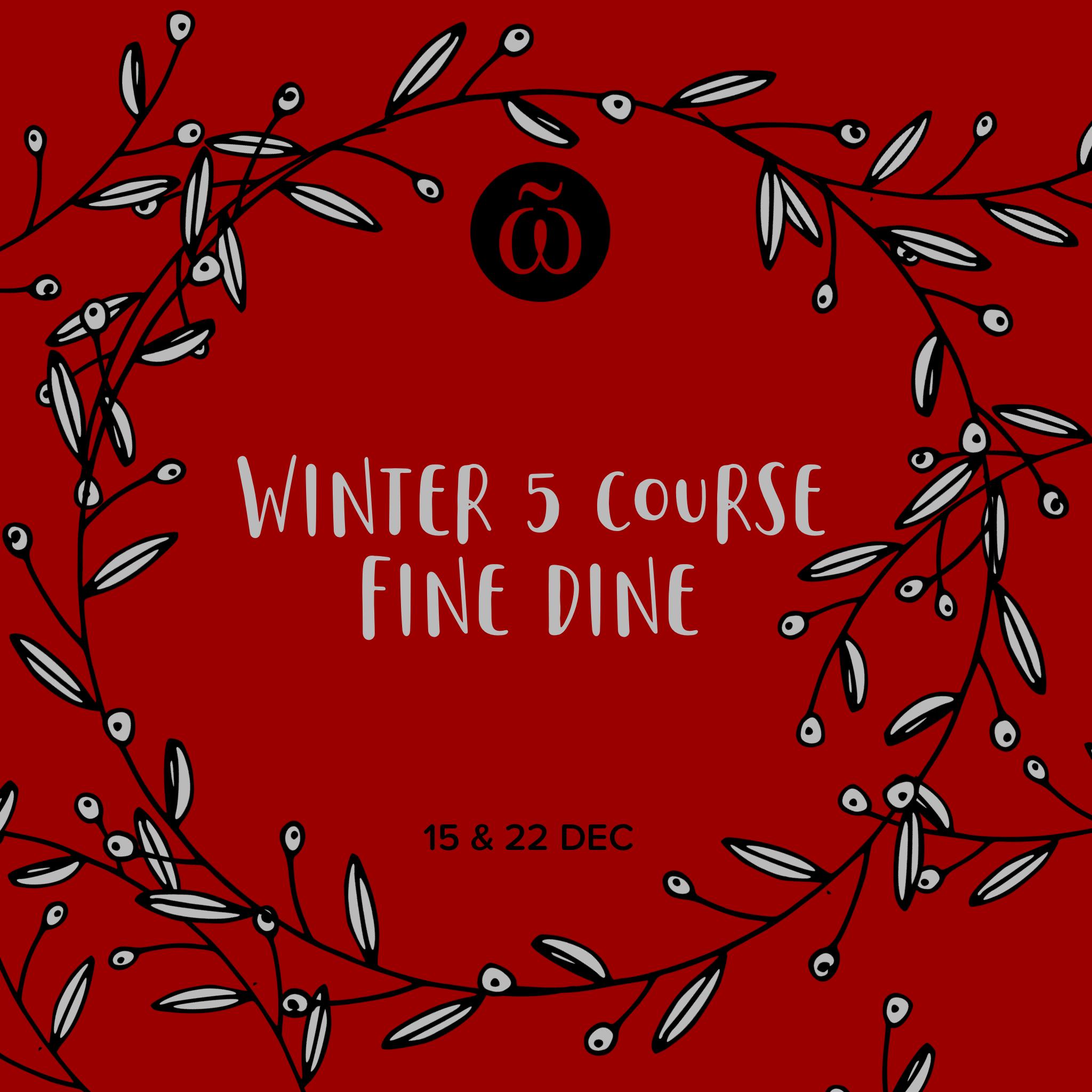 Winter 5 Course Fine Dine Whitaker Museum