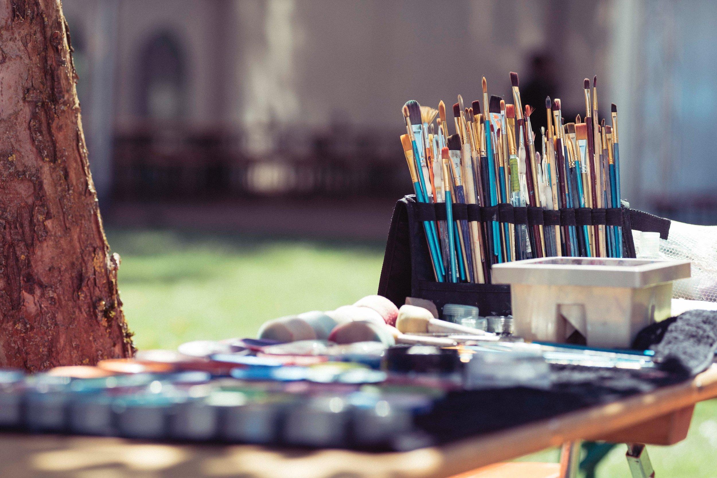 Watercolour paint workshop
