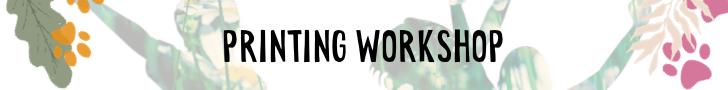 Kids printing workshop