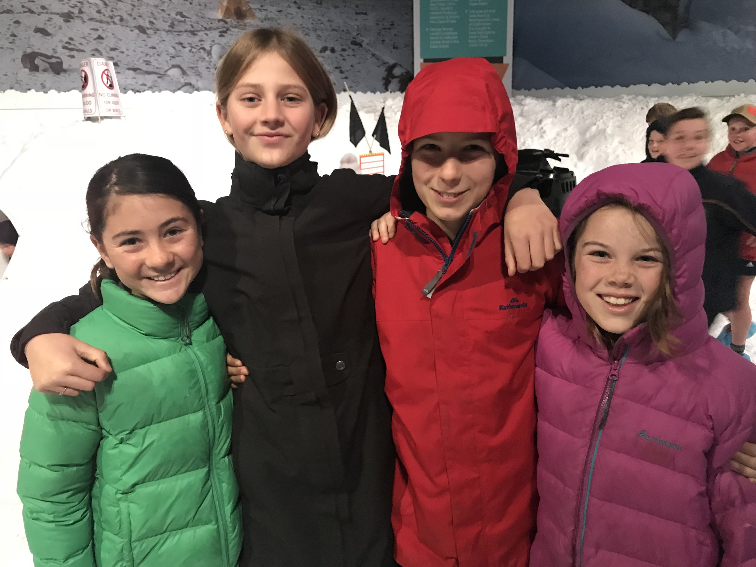 Fun in the snow at the Antarctic Centre