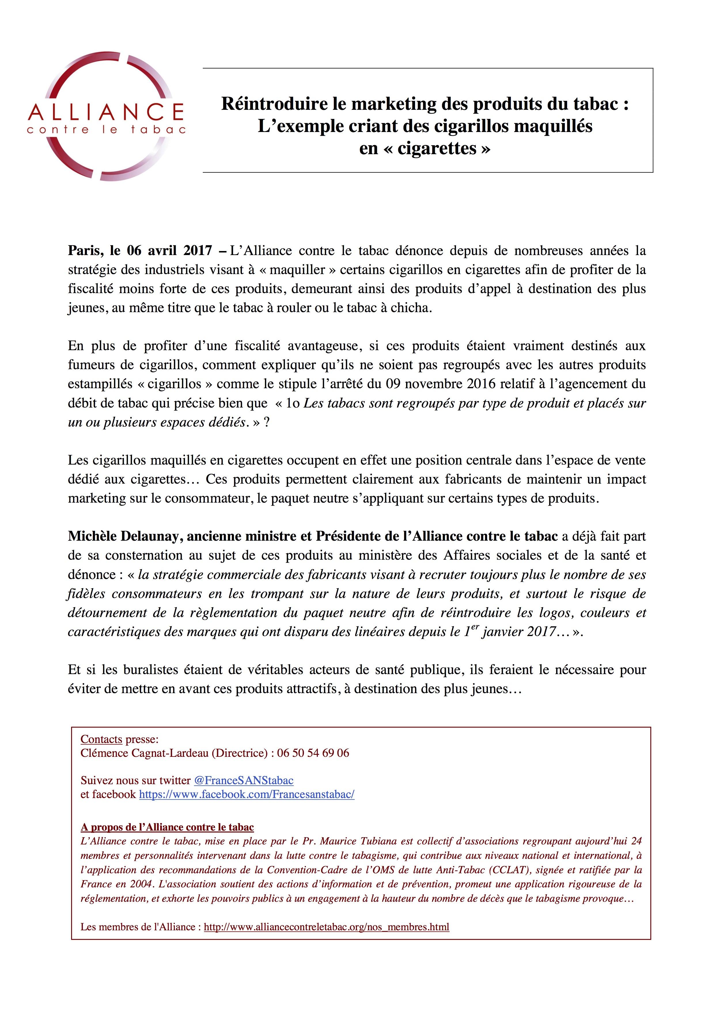CP06042017 - Réintroduire le marketing des produits du tabac -  Lexemple des cigarillos maquillés en cigarettes.jpg