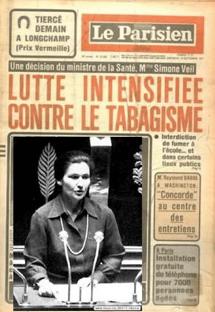 Simone Veil, ministre de la Santé, 1976