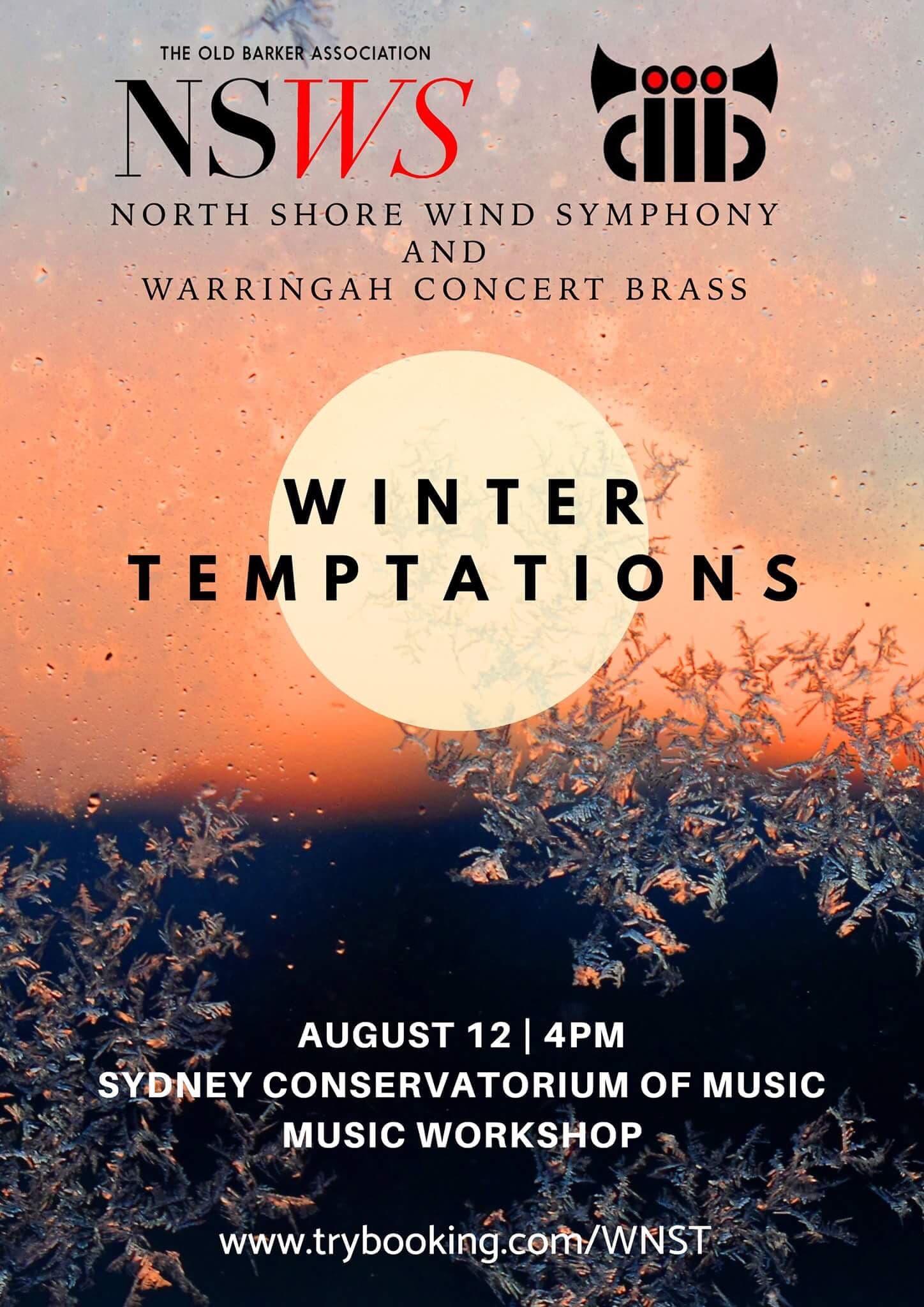 winter temptations - SUNDAY AUGUST 12 2018ARMENIAN DANCES (PART 1)Alfred ReedSHELTERING SKYJohn MackeyMOTHViet CuongSPOON RIVERPercy GraingerLOST VEGASMichael Daugherty