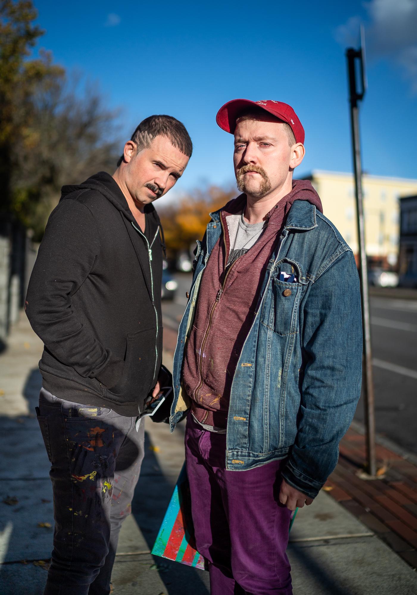 Matt and John, Local Artists, Shrewsbury Street, November, 2018.