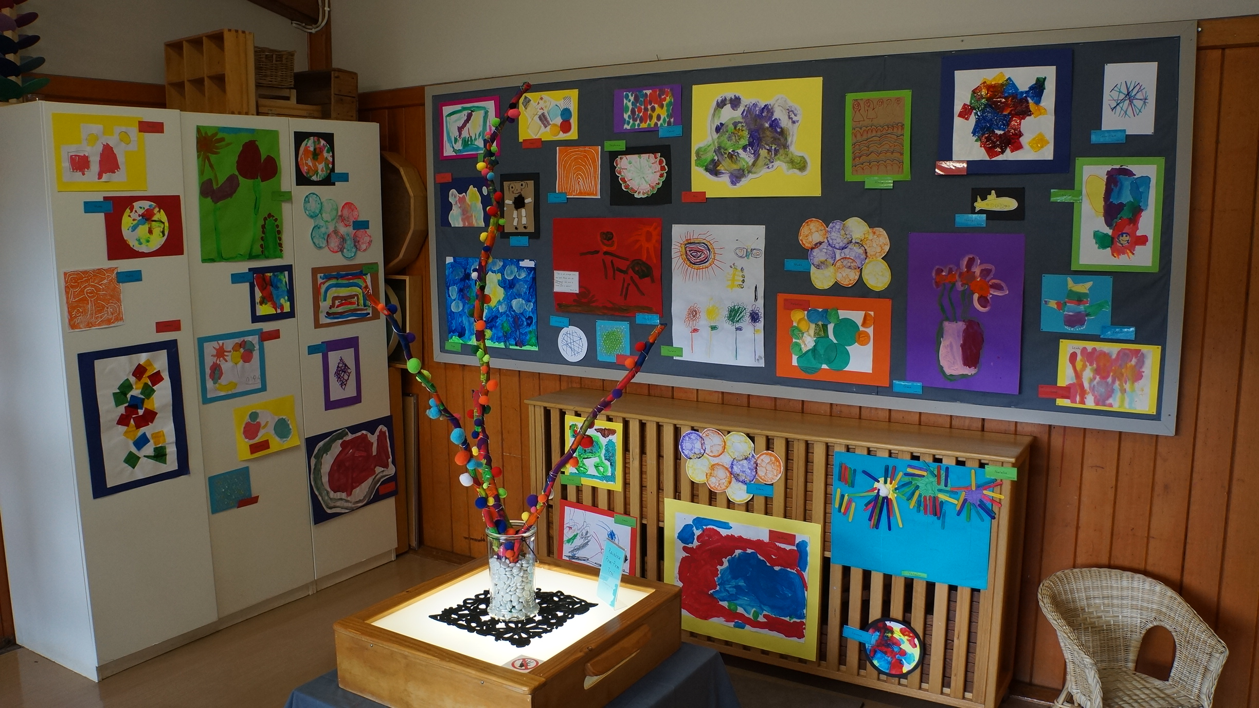 Some of the artwork on display