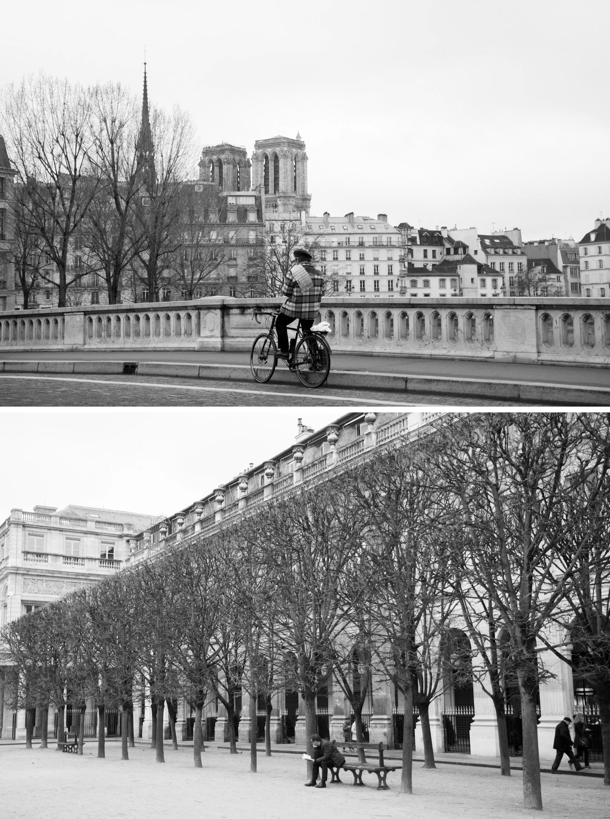 Winter in Paris | Paris black and white photography | Travel photography