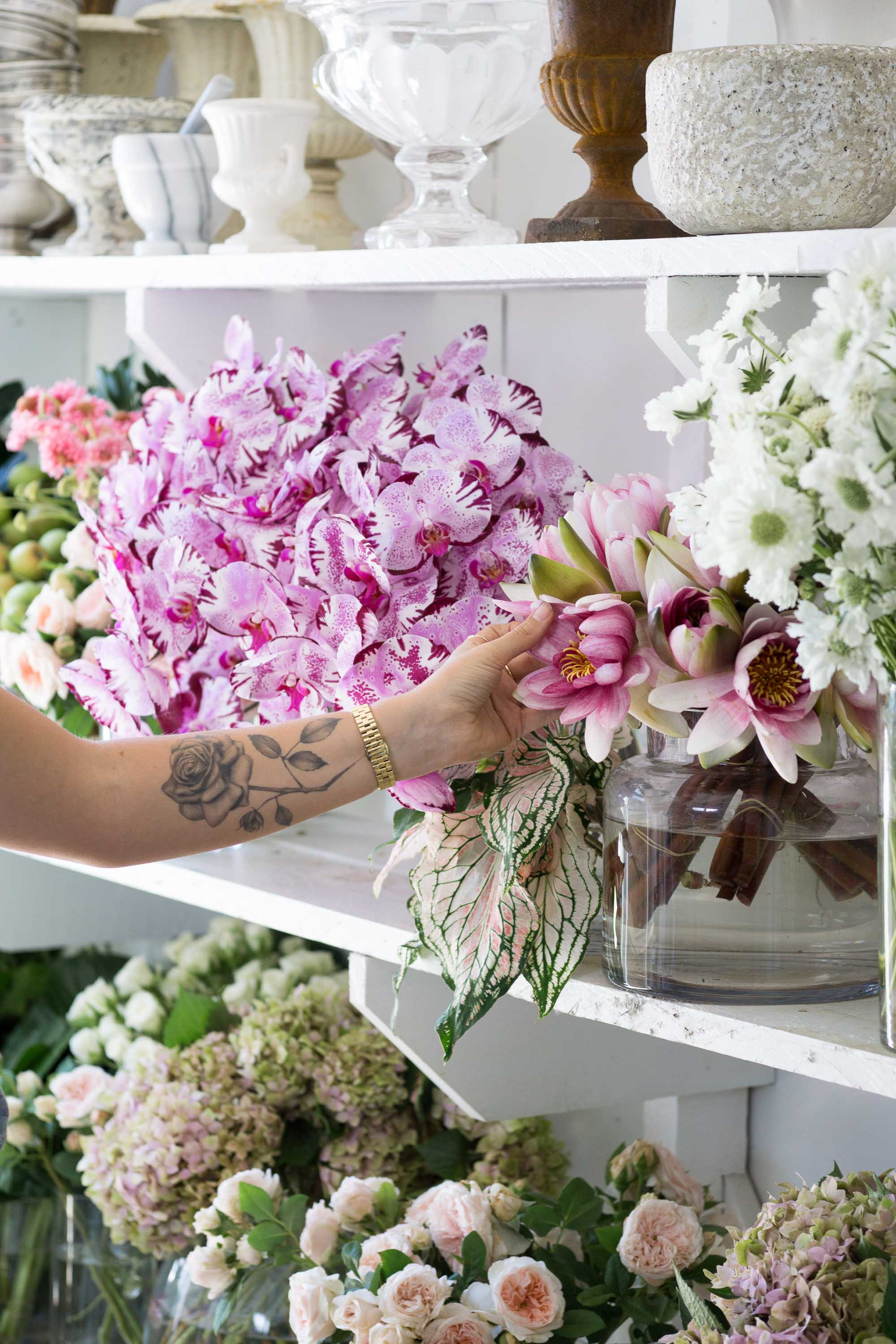 In the Studio with Boutierre Girls | Discover Emily Michele Smith's dreamy Sydney floral studio. | Lifestyle + Personal Branding Photographer | Christie Moore Photography