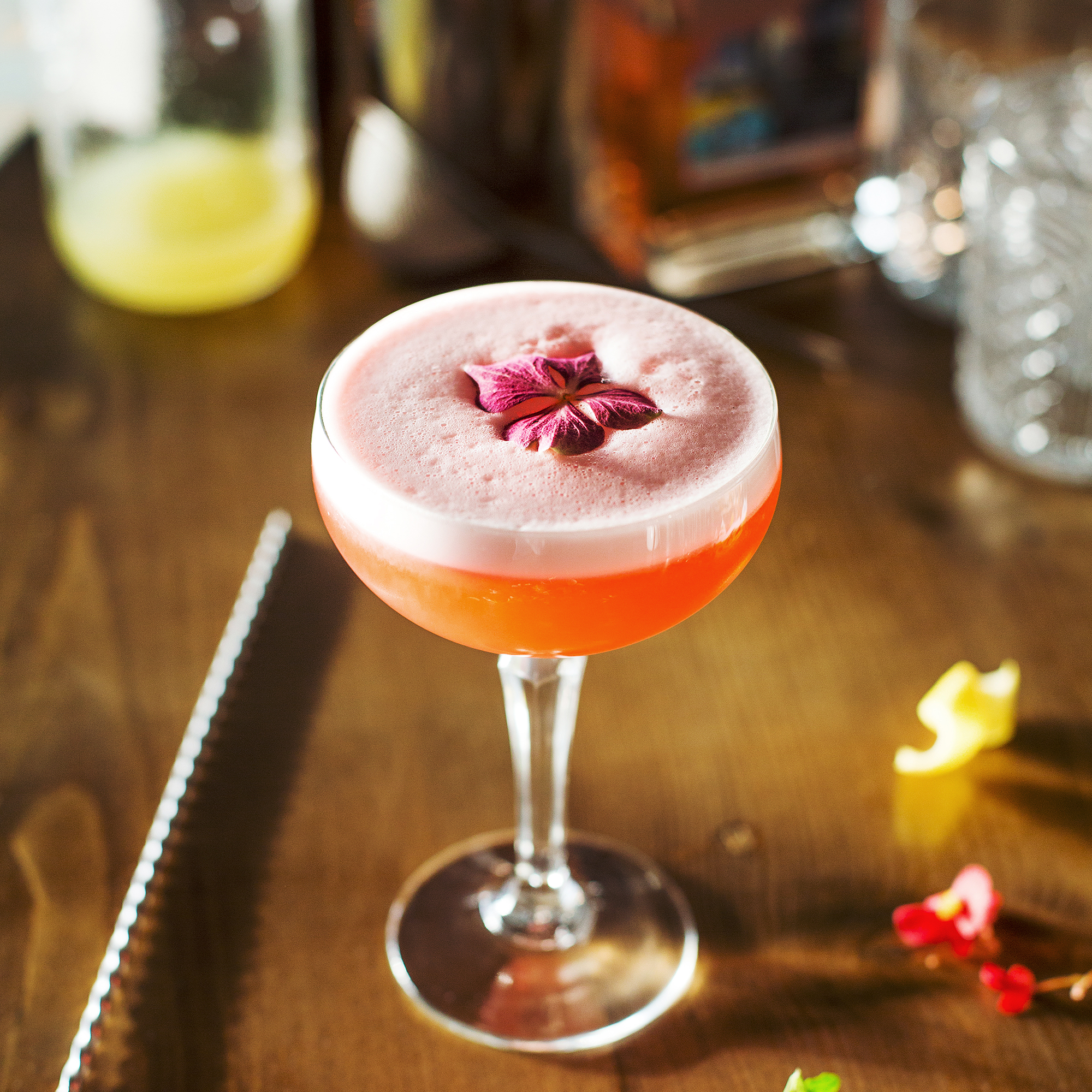 St Ives Gin Super Berry Pink Lady Cocktail
